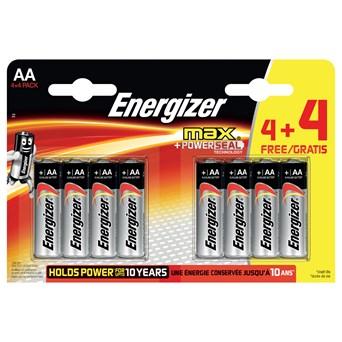 Energizer Max Aa Batteries 4+4 (ENERLR6B4-4FREEMAX)